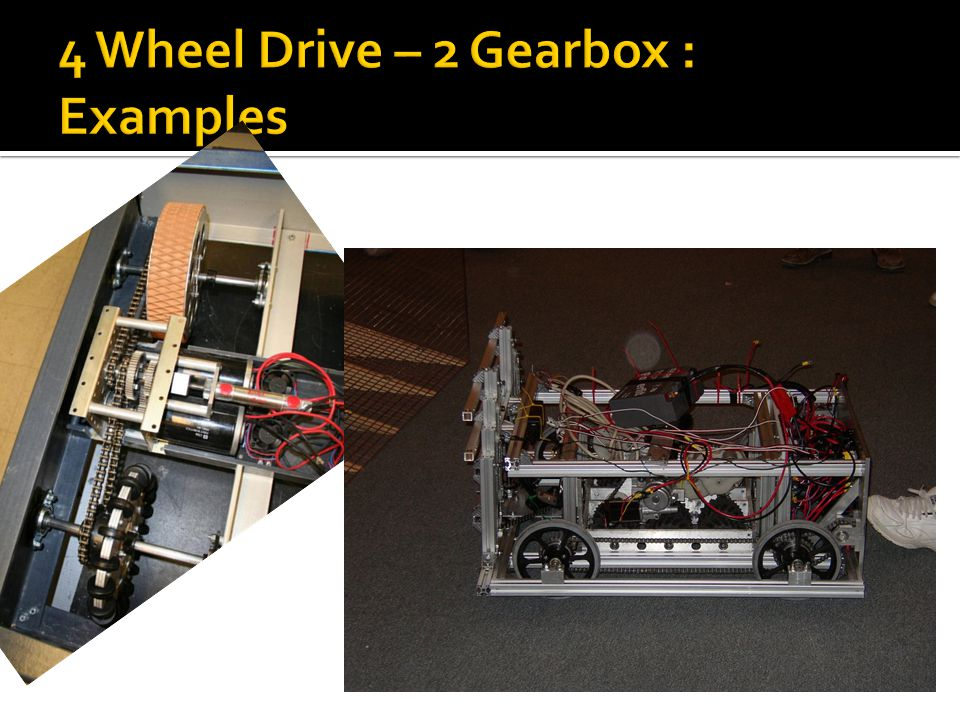 4 Wheel Drive – 2 Gearbox : Examples