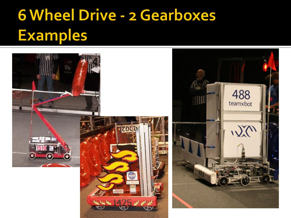 6 Wheel Drive - 2 Gearboxes Examples