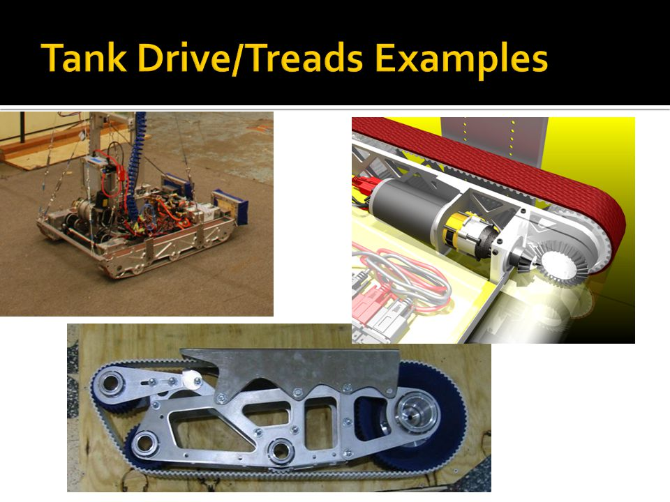 Tank Drive/Treads Examples