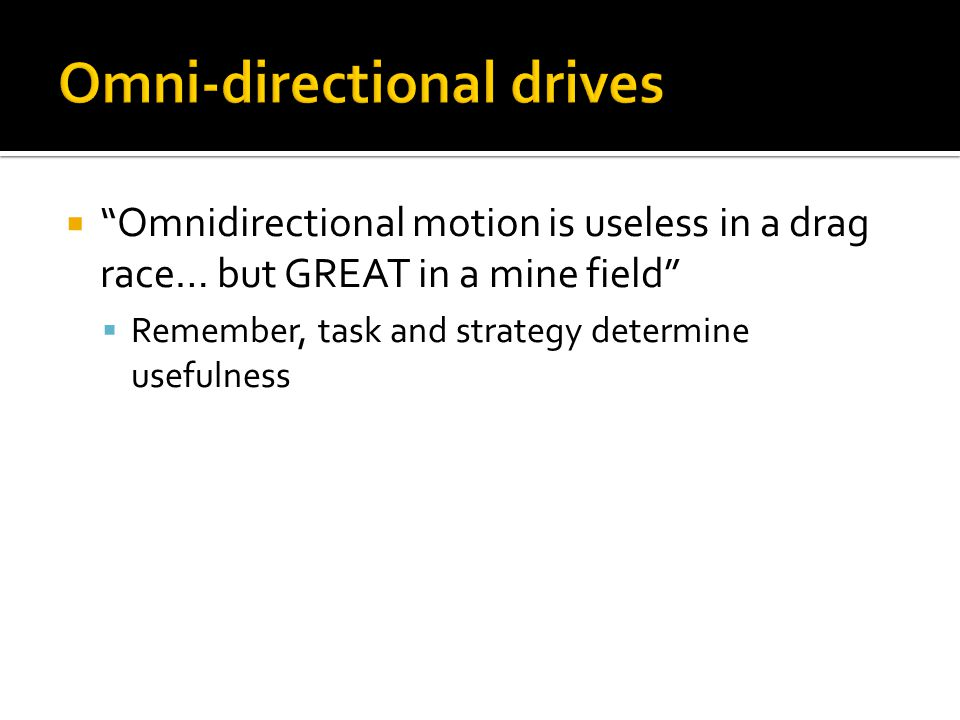 Omni-directional drives