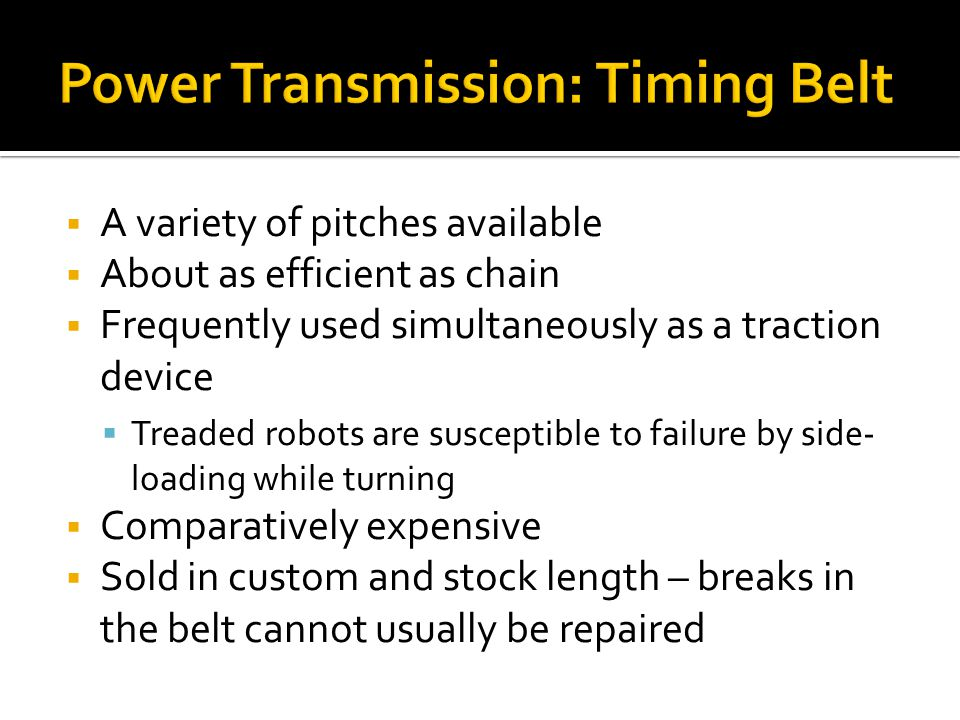Power Transmission: Timing Belt
