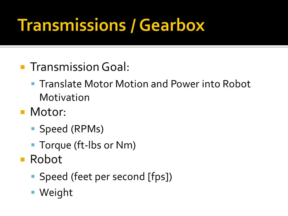 Transmissions / Gearbox