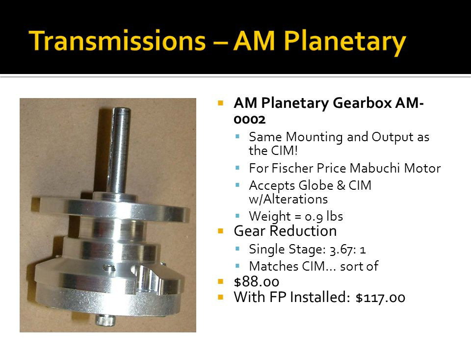Transmissions – AM Planetary