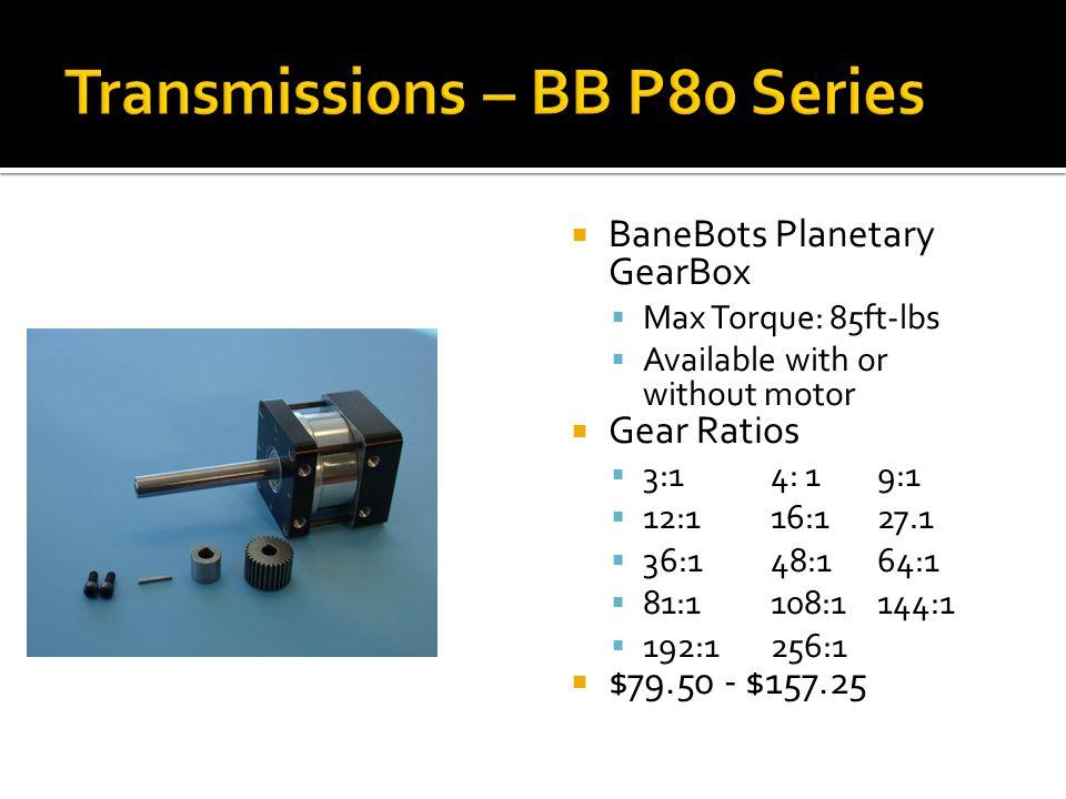 Transmissions – BB P80 Series
