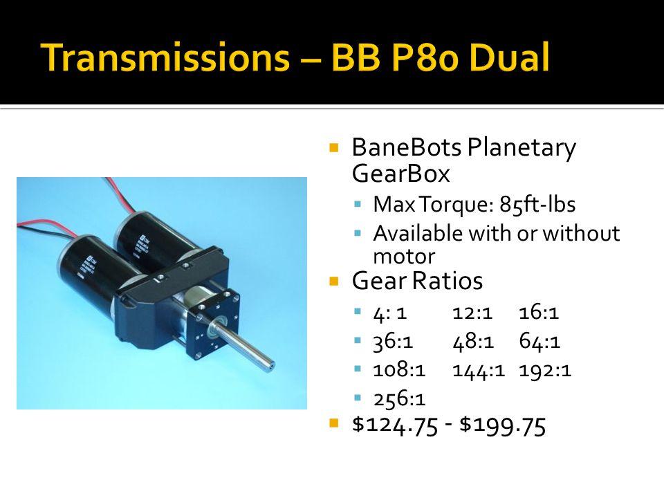 Transmissions – BB P80 Dual
