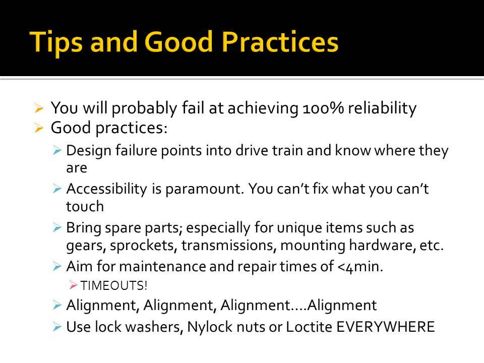 Tips and Good Practices