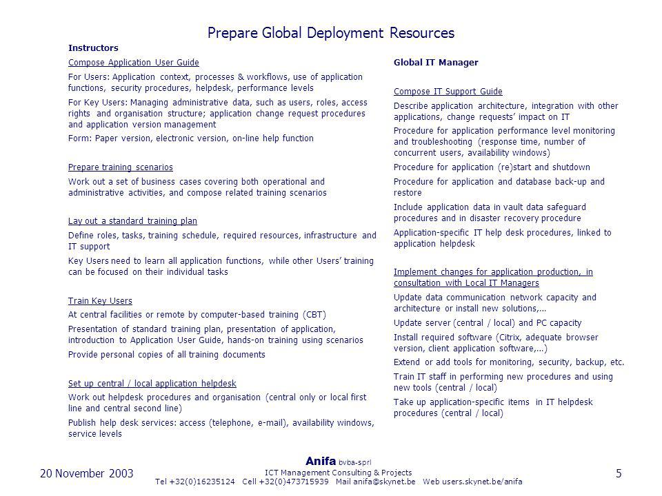 Prepare Global Deployment Resources
