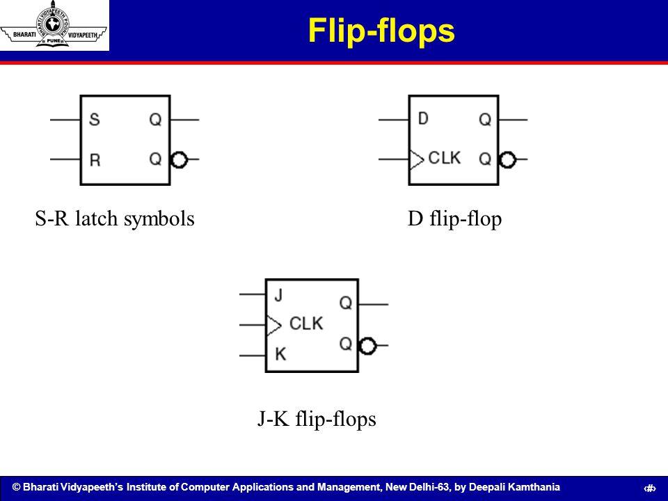 Flip-flops S-R latch symbols D flip-flop J-K flip-flops