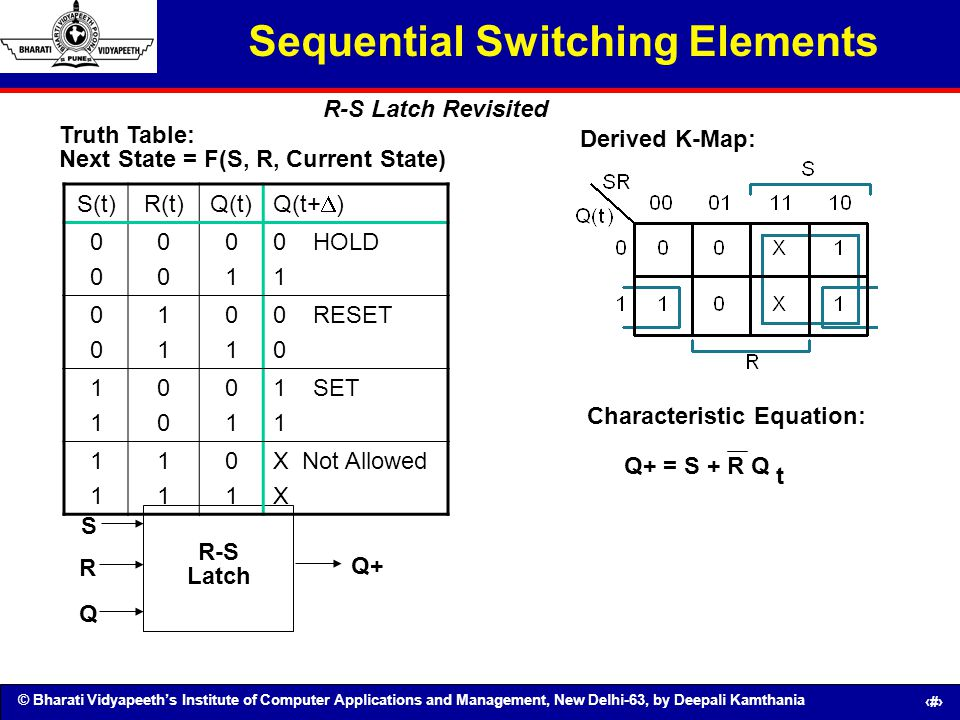 Sequential Switching Elements