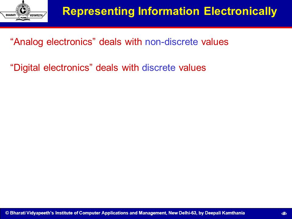 Representing Information Electronically