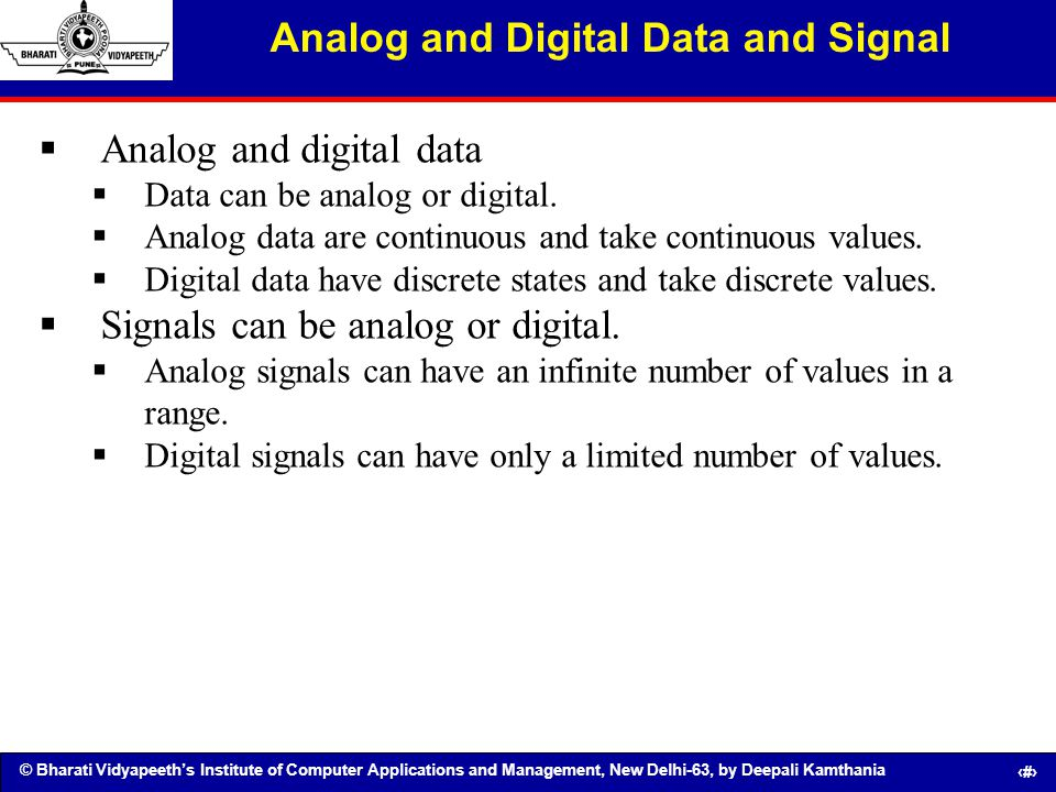 Analog and Digital Data and Signal