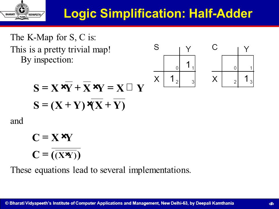 Logic Simplification: Half-Adder