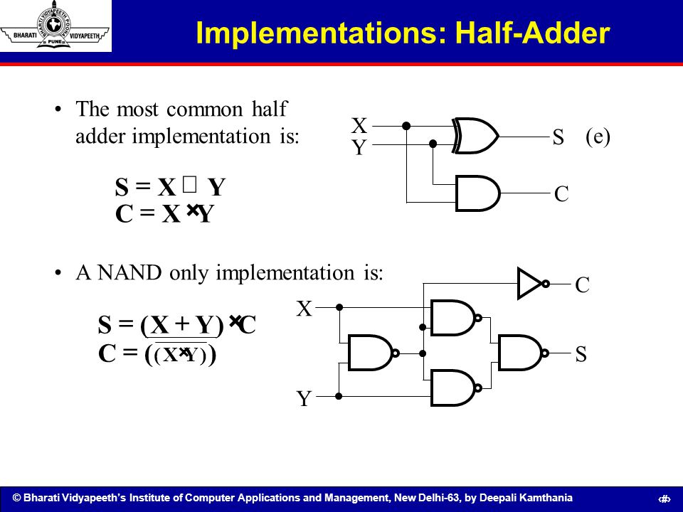 Implementations: Half-Adder