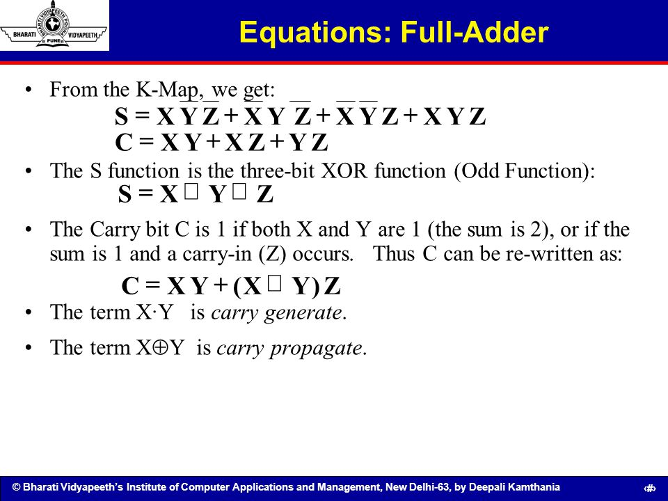 Equations: Full-Adder