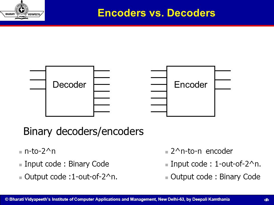 Binary decoders/encoders