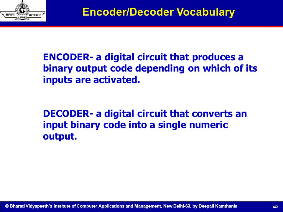 Encoder/Decoder Vocabulary