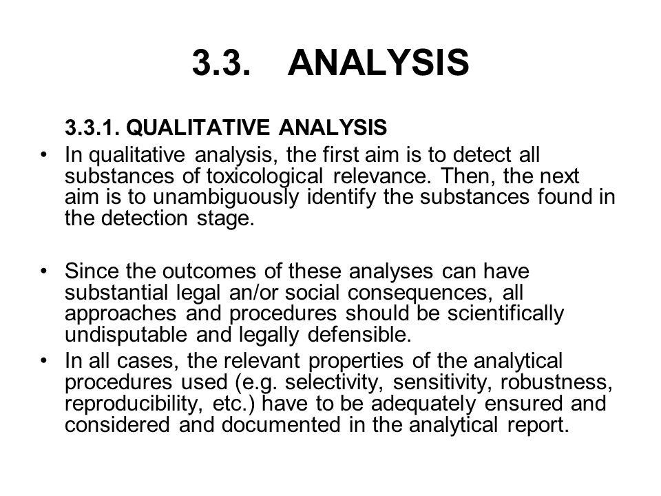 3.3. ANALYSIS 3.3.1. QUALITATIVE ANALYSIS