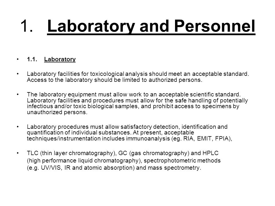 1. Laboratory and Personnel