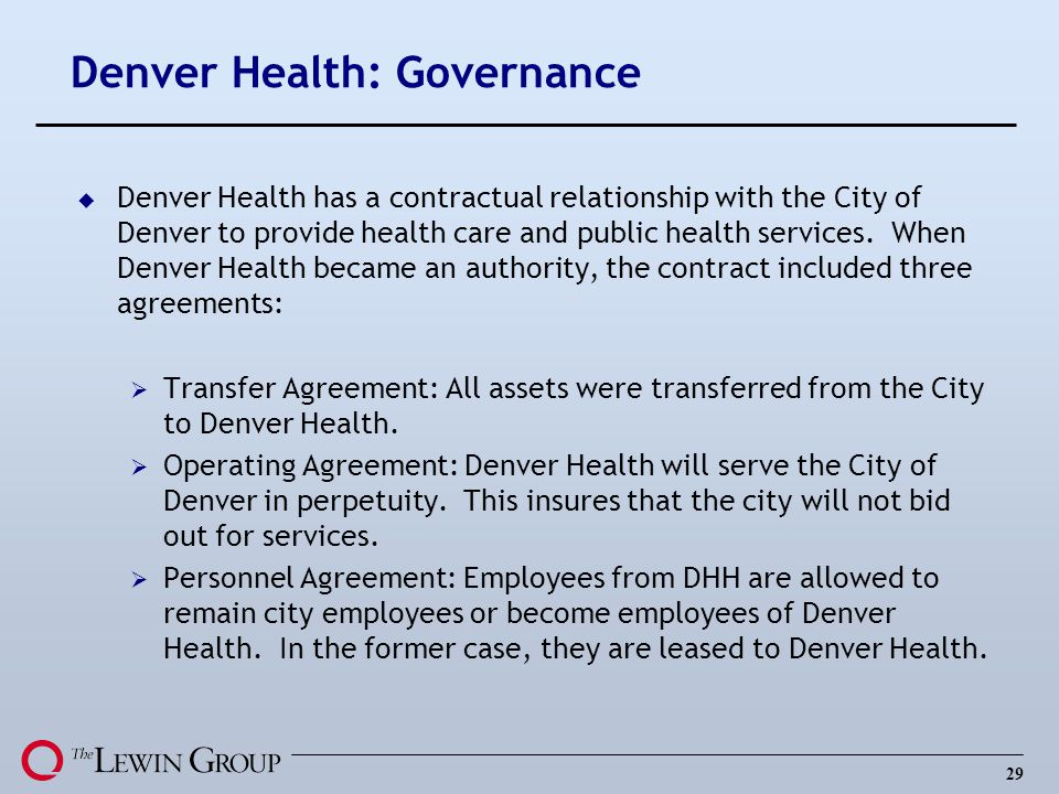 Denver Health: Governance