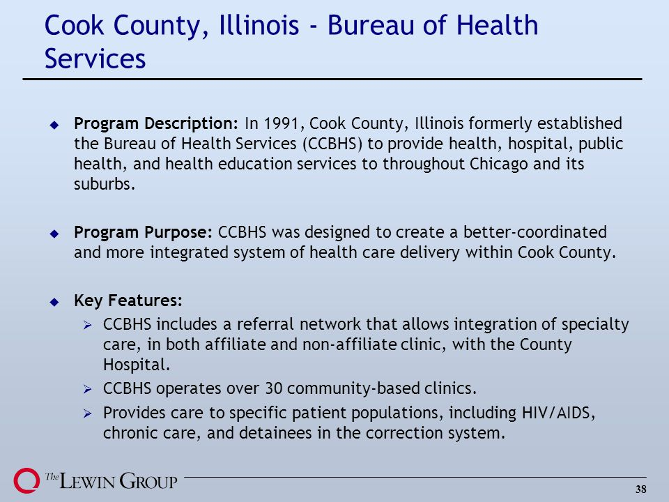 Cook County, Illinois - Bureau of Health Services