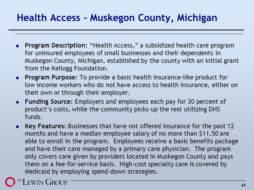 Health Access – Muskegon County, Michigan