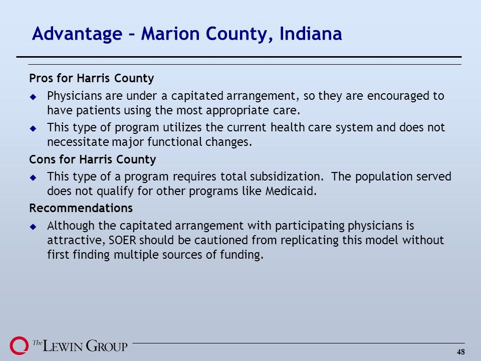 Advantage – Marion County, Indiana