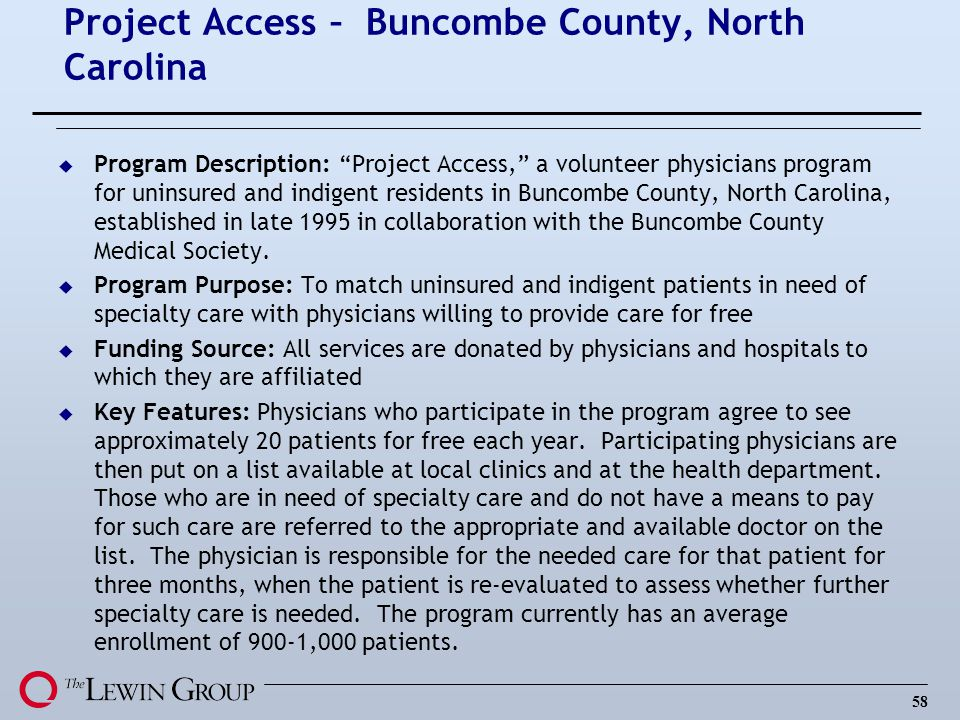 Project Access – Buncombe County, North Carolina