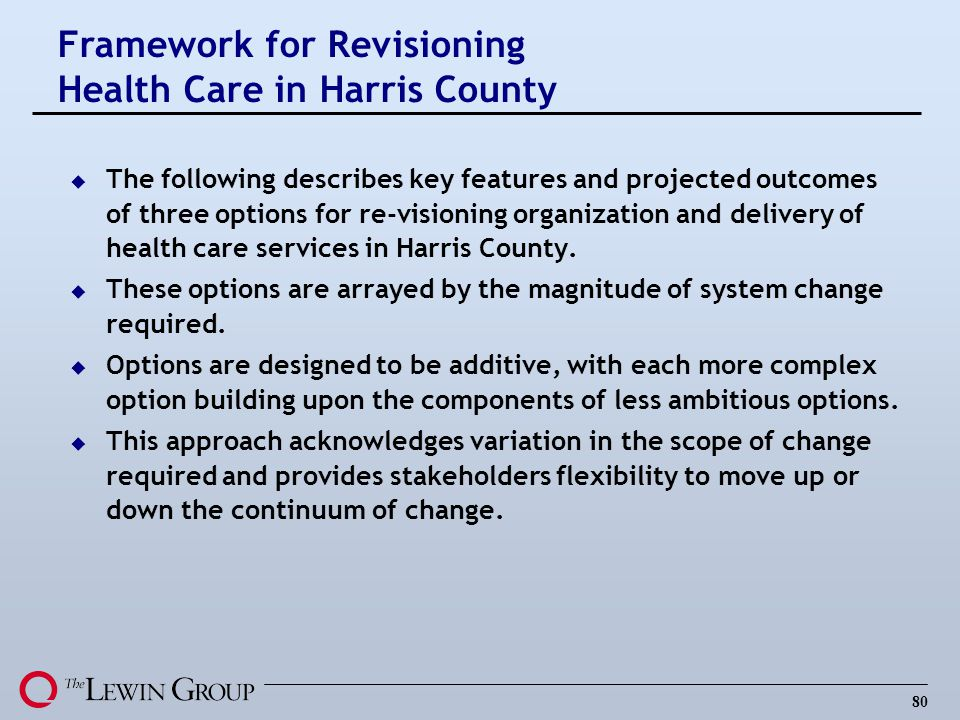 Framework for Revisioning Health Care in Harris County