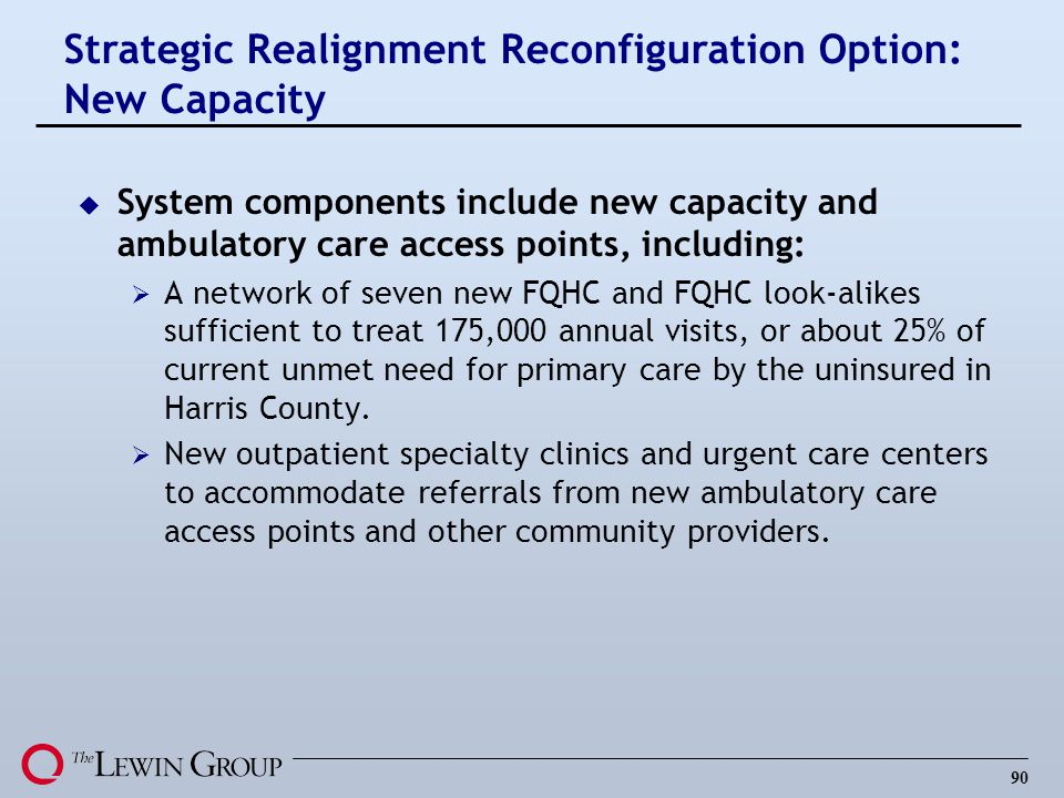 Strategic Realignment Reconfiguration Option: New Capacity