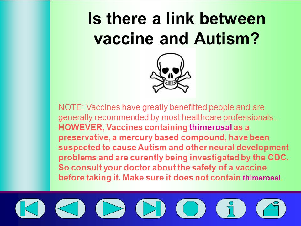 Is there a link between vaccine and Autism