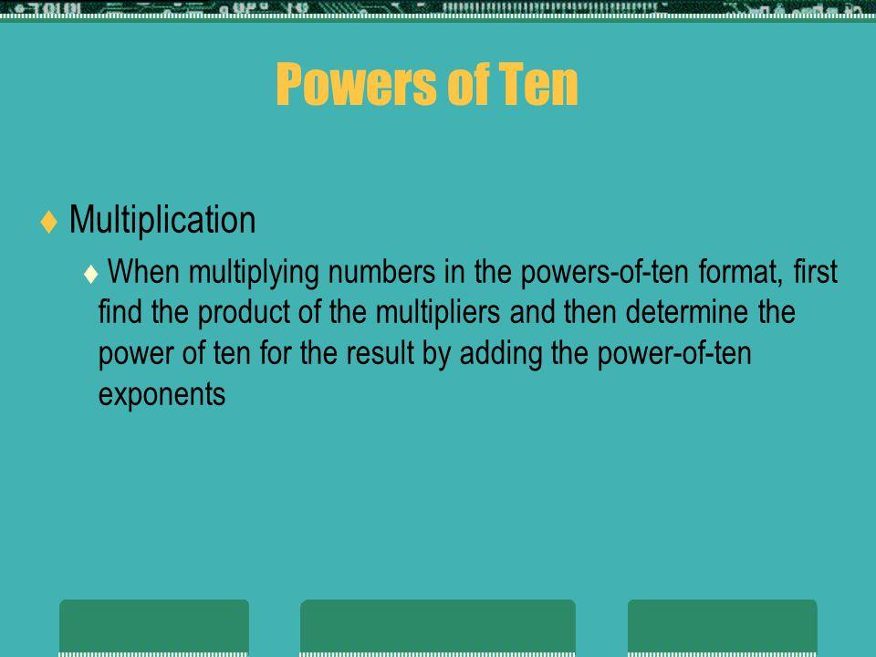 Powers of Ten Multiplication