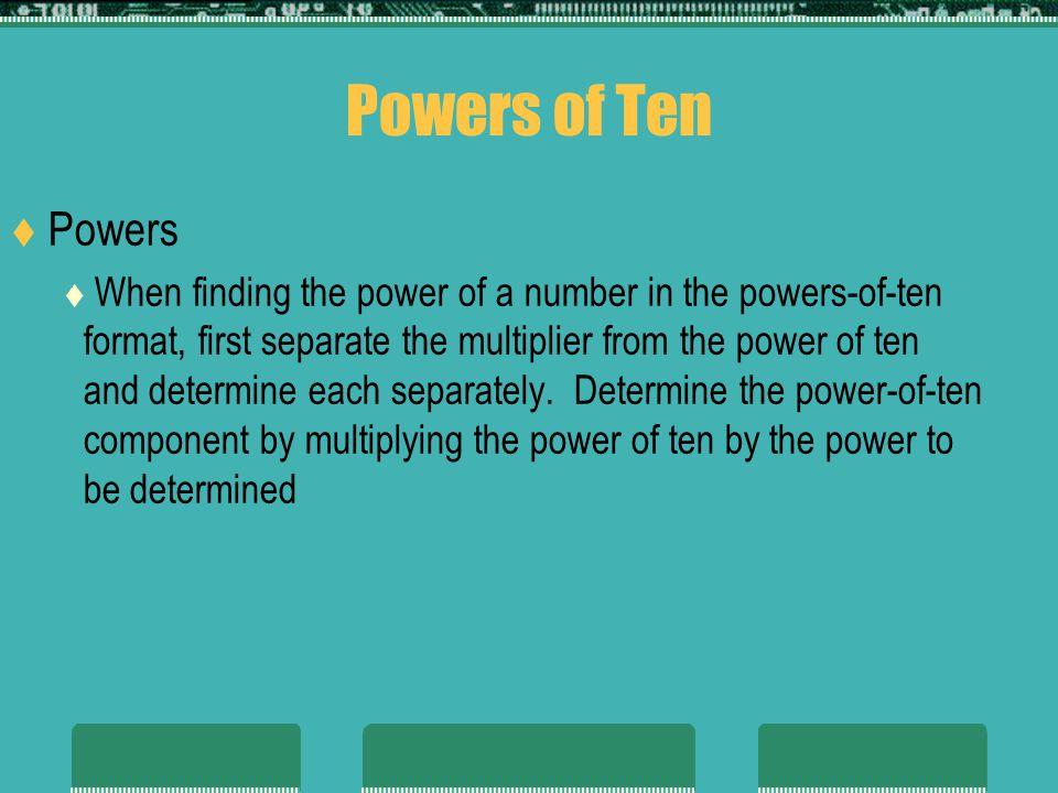 Powers of Ten Powers.