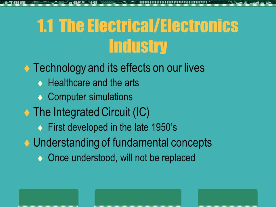 1.1 The Electrical/Electronics Industry