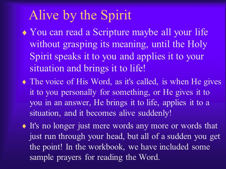 Alive by the Spirit