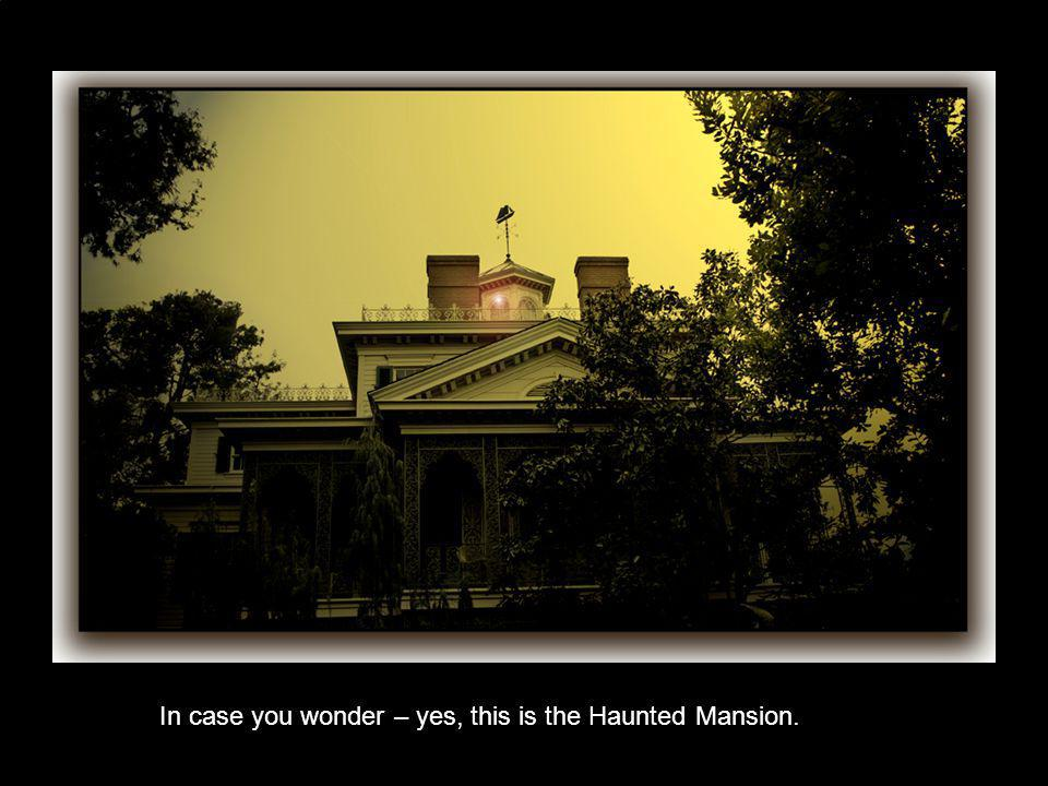 In case you wonder – yes, this is the Haunted Mansion.