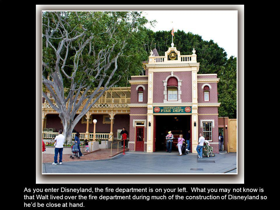 As you enter Disneyland, the fire department is on your left