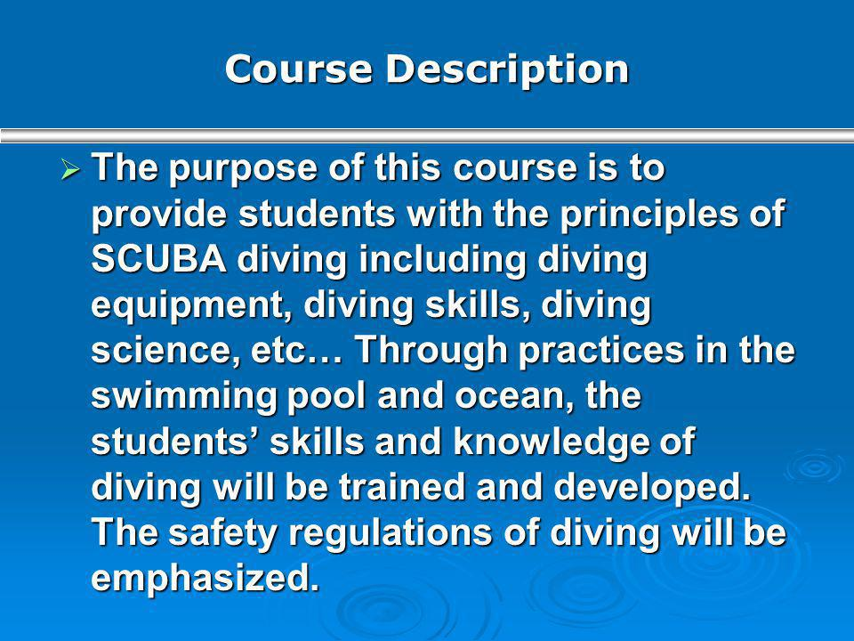Course Description