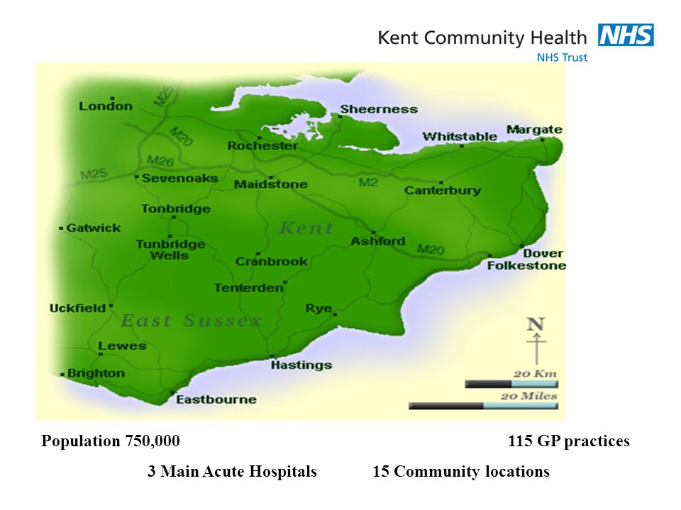 3 Main Acute Hospitals 15 Community locations