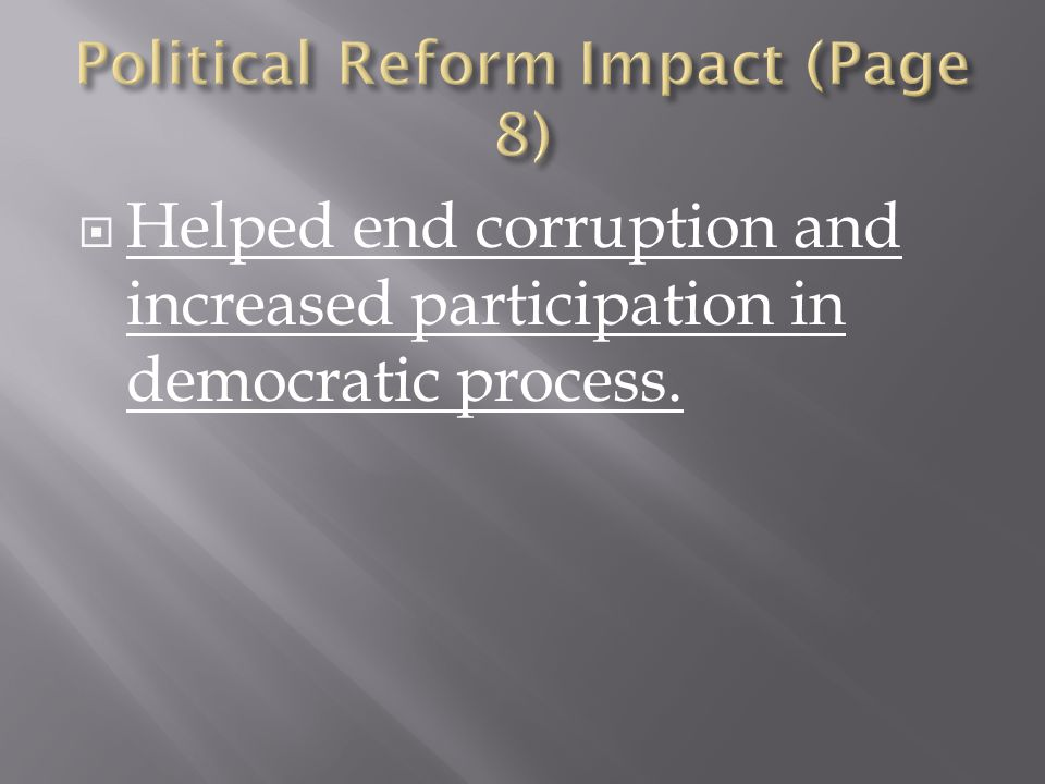 Political Reform Impact (Page 8)