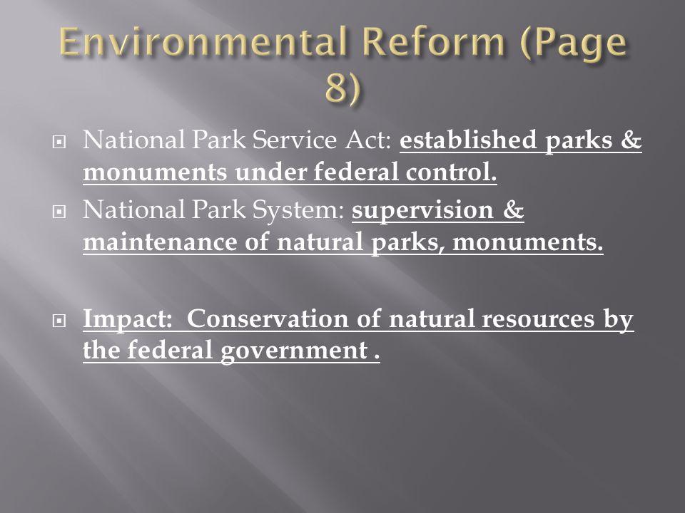 Environmental Reform (Page 8)