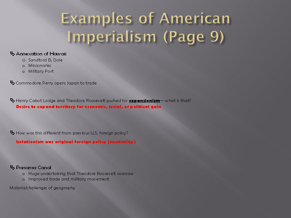 Examples of American Imperialism (Page 9)