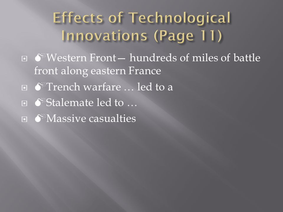 Effects of Technological Innovations (Page 11)