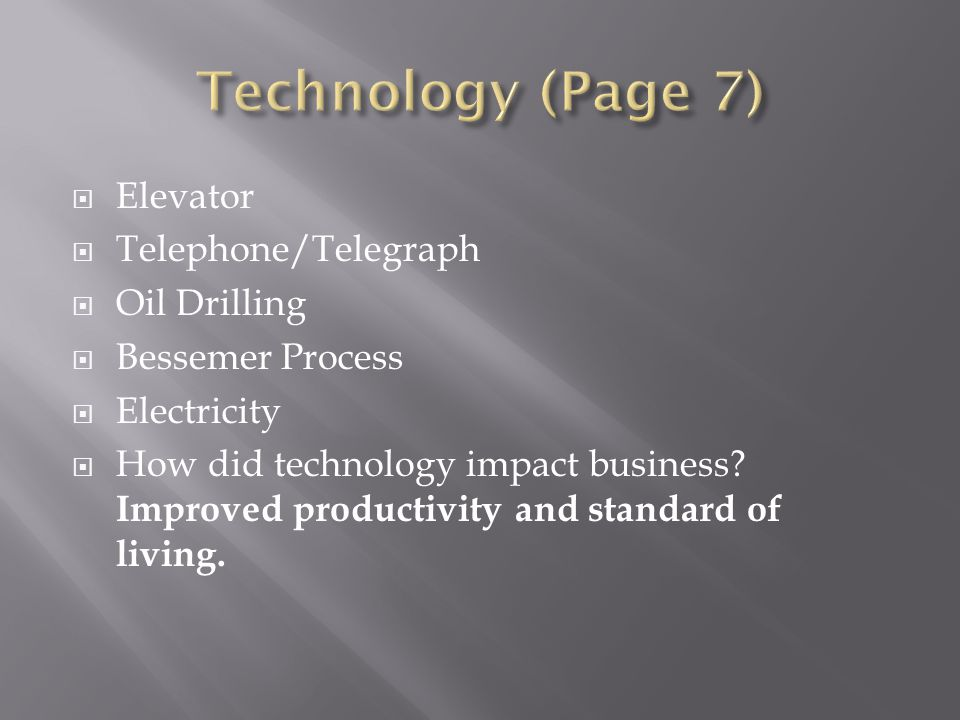 Technology (Page 7) Elevator Telephone/Telegraph Oil Drilling