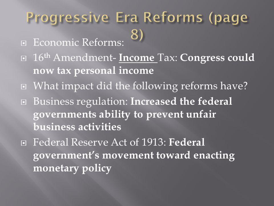 Progressive Era Reforms (page 8)