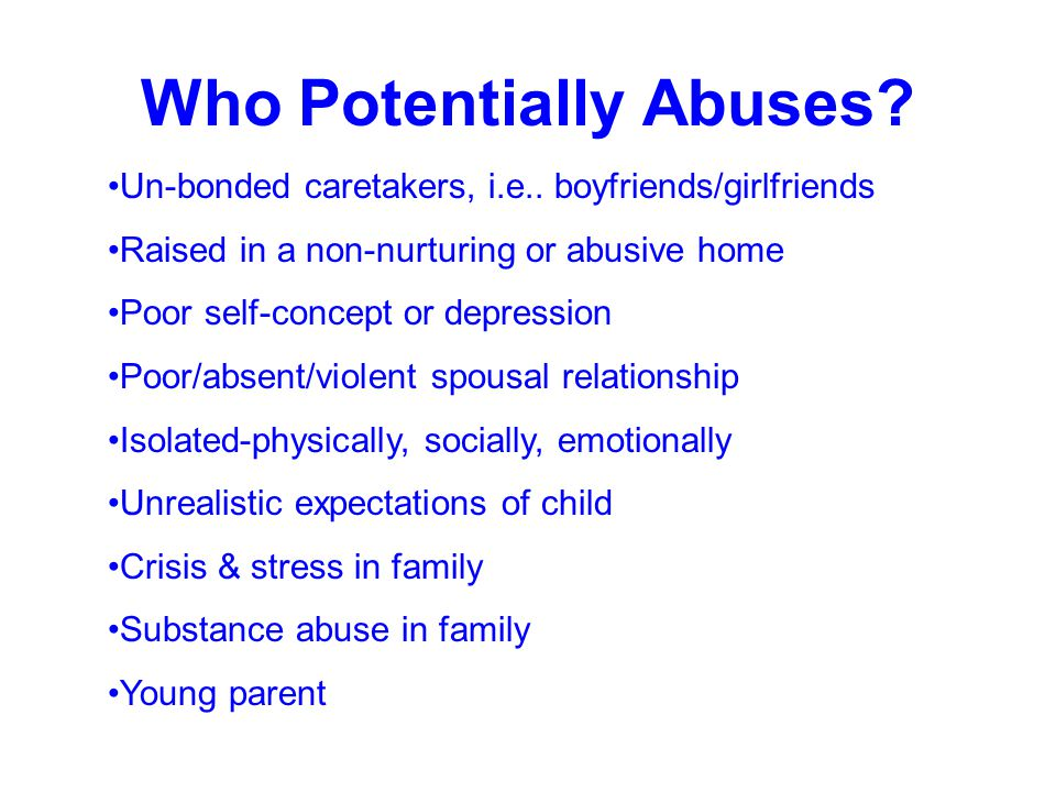Who Potentially Abuses