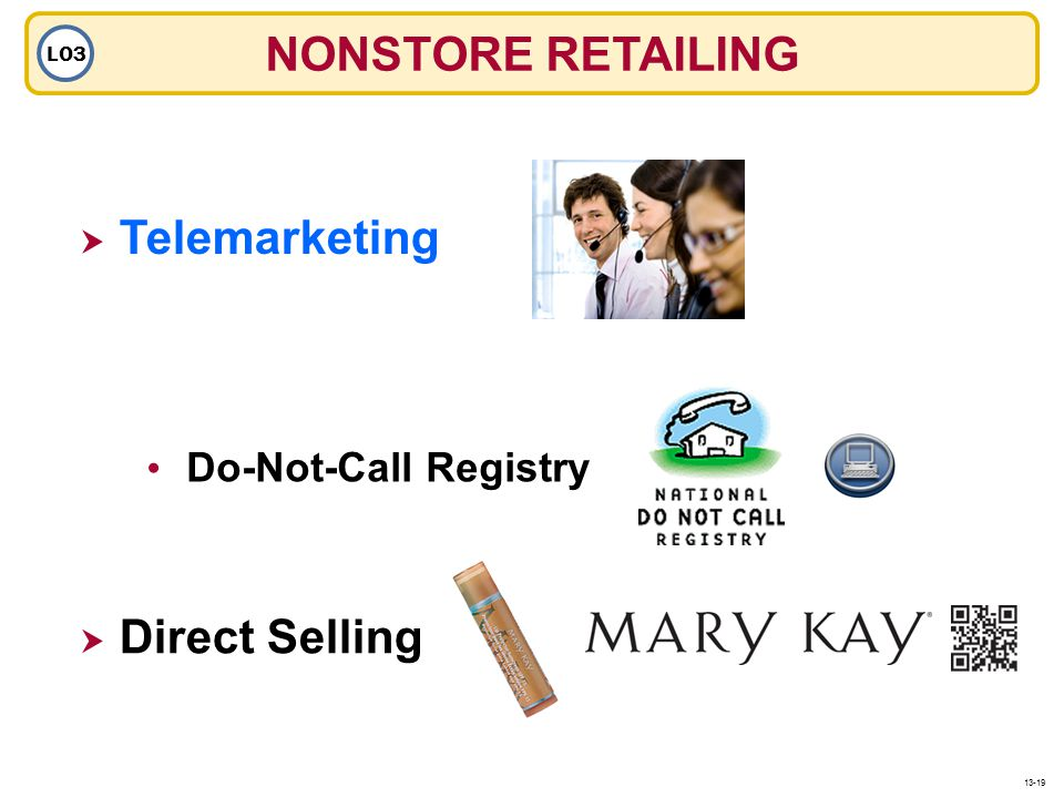 NONSTORE RETAILING Telemarketing Direct Selling Do-Not-Call Registry