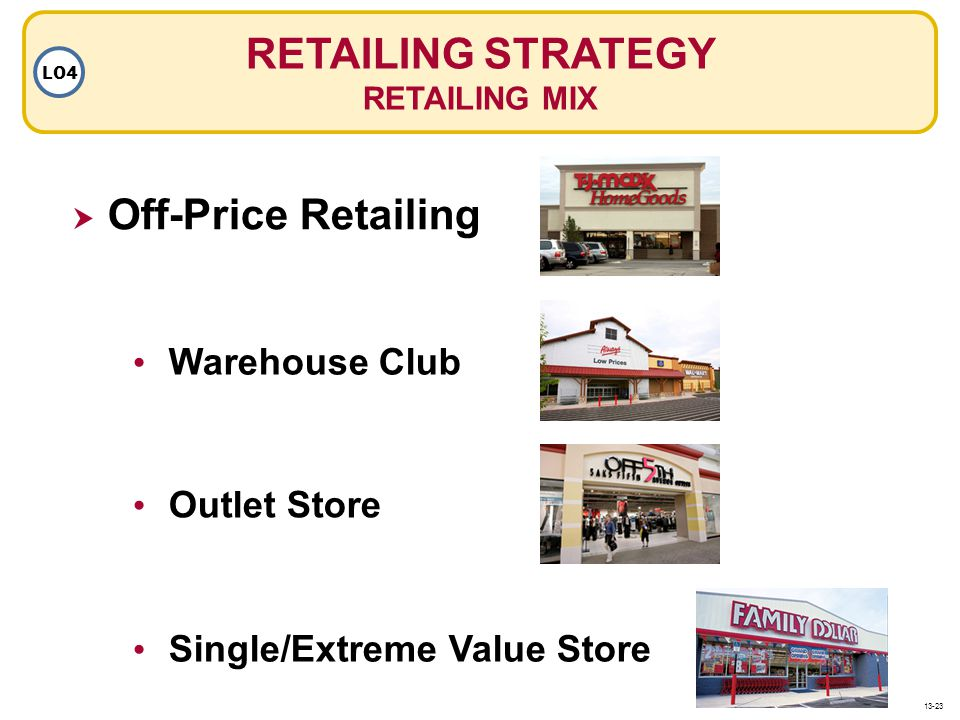 RETAILING STRATEGY Off-Price Retailing Warehouse Club Outlet Store