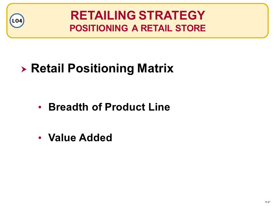 POSITIONING A RETAIL STORE