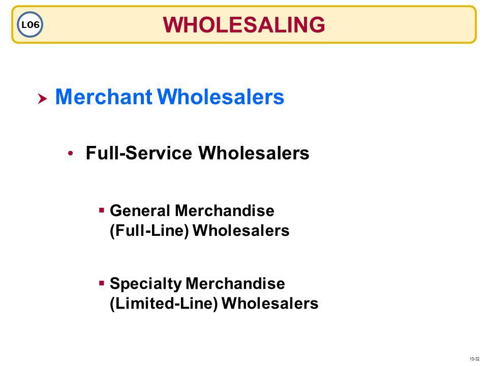 WHOLESALING Merchant Wholesalers Full-Service Wholesalers