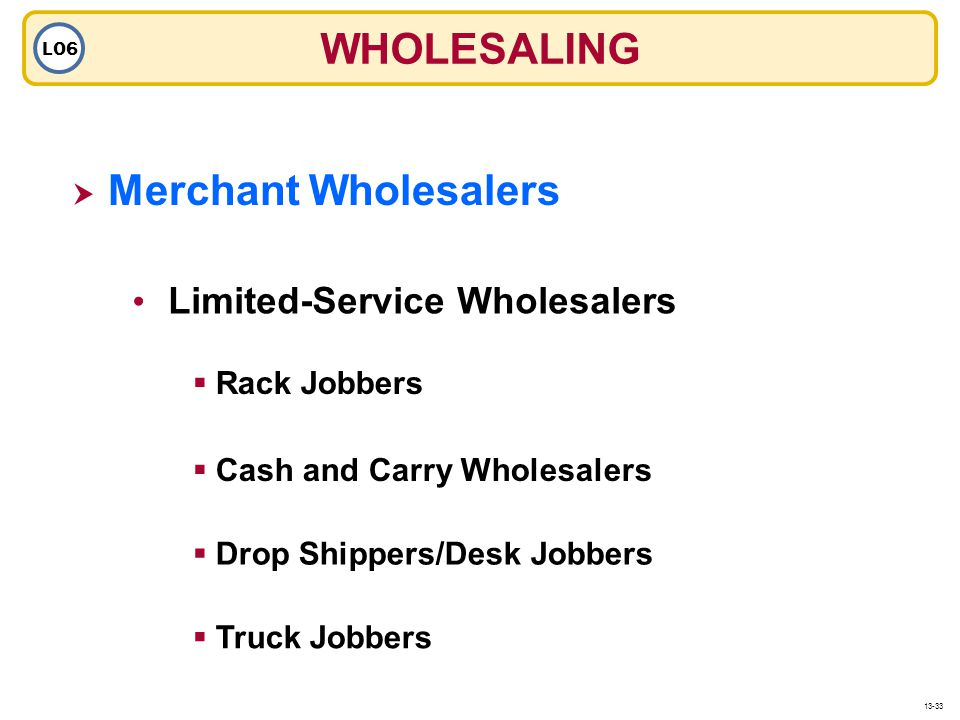 WHOLESALING Merchant Wholesalers Limited-Service Wholesalers
